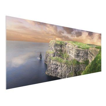 Produktfoto Forex Fine Art Print - Wandbild Cliffs Of Moher - Panorama Quer