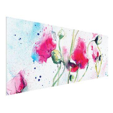 Immagine del prodotto Stampa su Forex - Painted Poppies - Panoramico