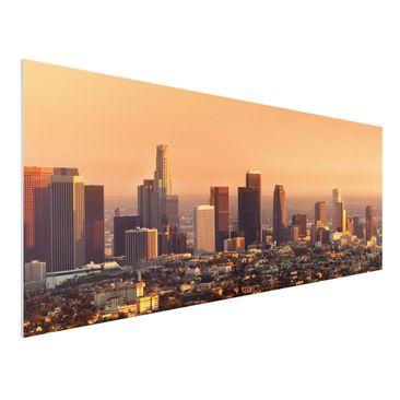 Produktfoto Forex Fine Art Print - Wandbild Skyline of Los Angeles - Panorama Quer