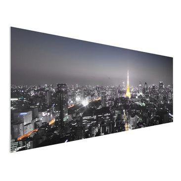 Produktfoto Forex Fine Art Print - Wandbild Tokio - Panorama Quer