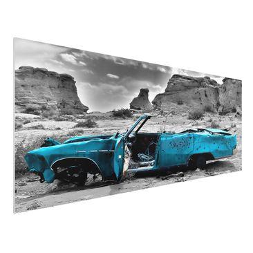 Immagine del prodotto Stampa su Forex - Turqouise Cadillac - Panoramico