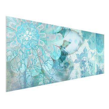Produktfoto Forex Fine Art Print - Wandbild Winterblumen - Panorama Quer