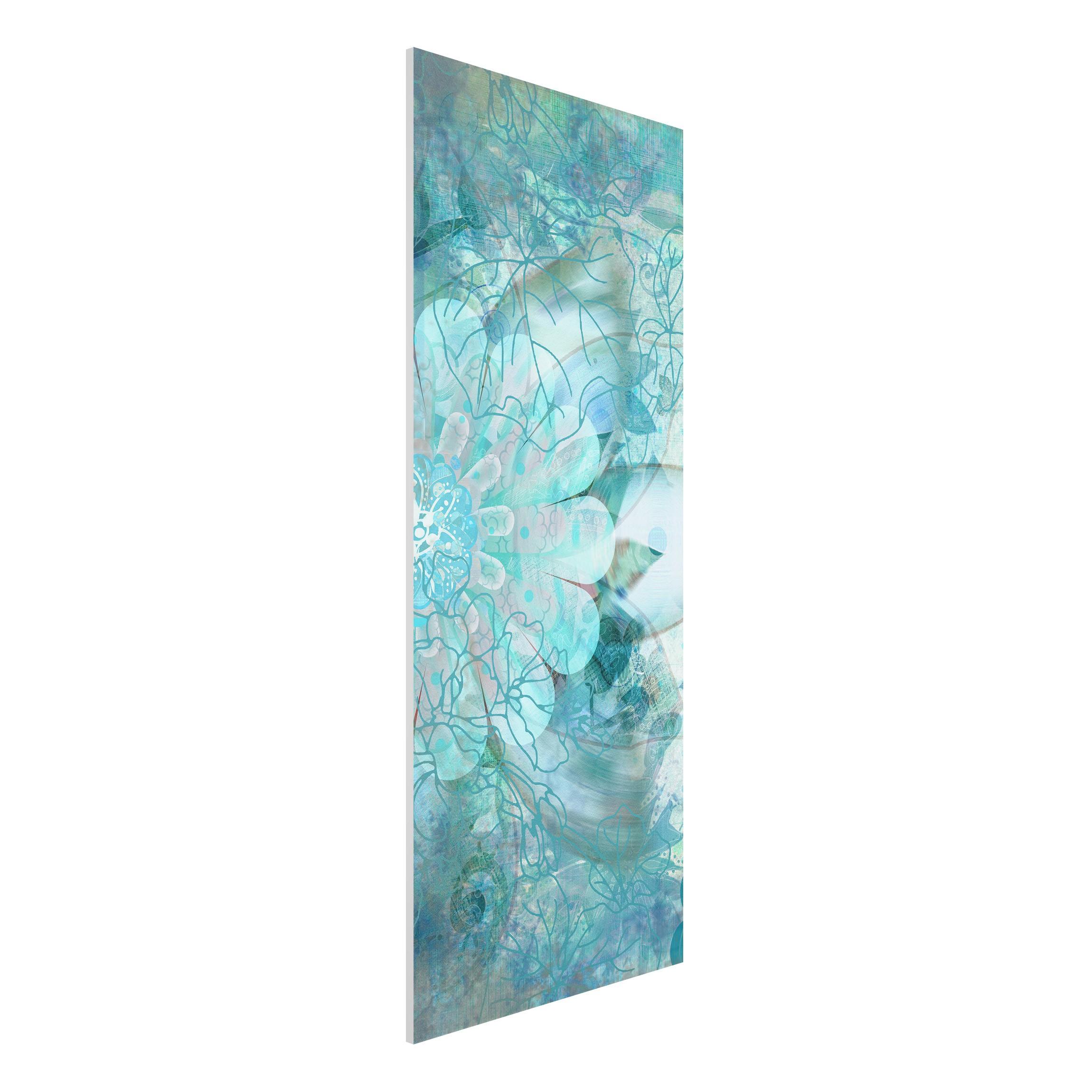 forex fine art print mural winter flowers panorama high. Black Bedroom Furniture Sets. Home Design Ideas