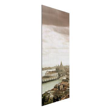 Produktfoto Aluminium Print gebürstet - Wandbild Lagune von Venedig - Panorama Hoch