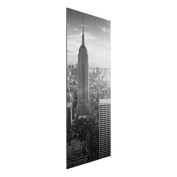 Immagine del prodotto Stampa su alluminio spazzolato - Manhattan Skyline - Pannello