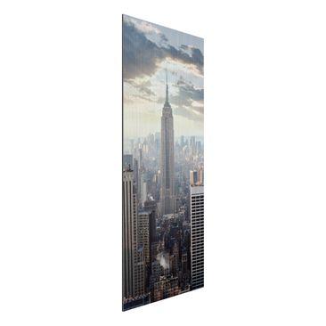 Immagine del prodotto Stampa su alluminio spazzolato - Sunrise In New York - Pannello