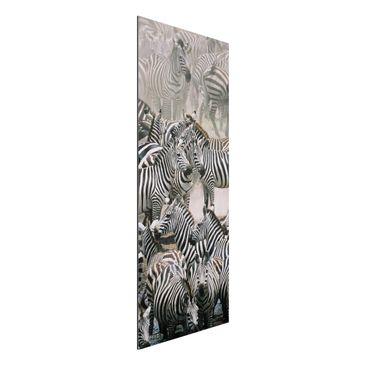 Immagine del prodotto Stampa su alluminio spazzolato - Zebra Herd - Pannello