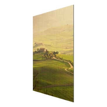 Product picture Aluminium Print brushed - Mural Chianti...