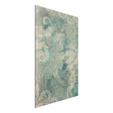Produktfoto Aluminium Print gebürstet - Wandbild Eisblumen - Hoch 3:2