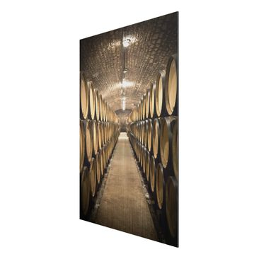 Product picture Aluminium Print brushed - Mural Wine...