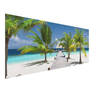 Produktfoto Aluminium Print gebürstet - Wandbild Catwalk to Paradise - Panorama Quer