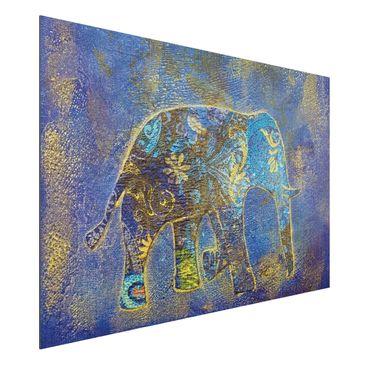 Product picture Aluminium Print brushed - Mural Elephant...