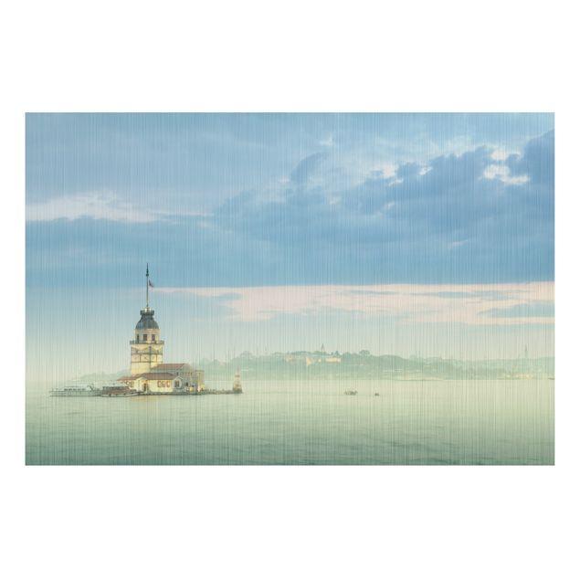 Produktfoto Aluminium Print gebürstet - Wandbild Maidens Tower - Quer 2:3