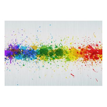 Product picture Aluminium Print brushed - Mural Rainbow...