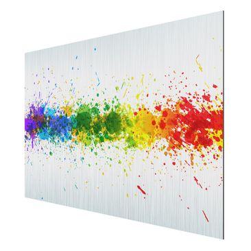 Product picture Aluminium Print brushed - Mural Rainbow...