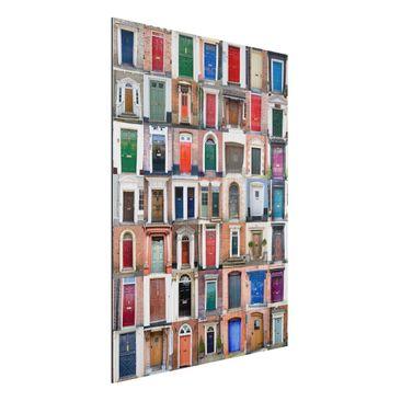 Immagine del prodotto Stampa su alluminio spazzolato - 100 Doors - Verticale 4:3