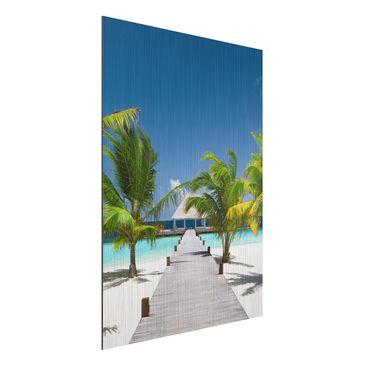 Produktfoto Aluminium Print gebürstet - Wandbild Catwalk to Paradise - Hoch 4:3