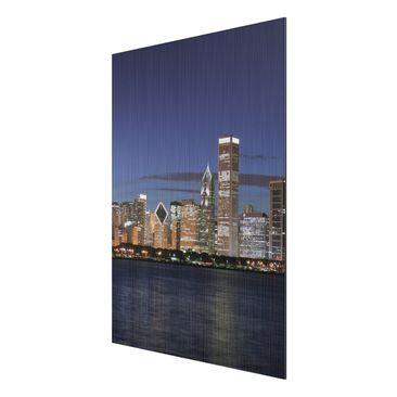 Product picture Aluminium Print brushed - Mural Chicago...