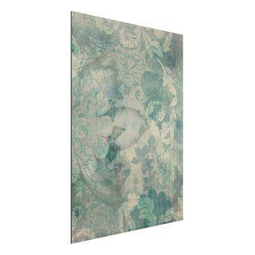 Produktfoto Aluminium Print gebürstet - Wandbild Eisblumen - Hoch 4:3