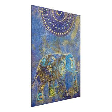Produktfoto Aluminium Print gebürstet - Wandbild Elephant in Marrakech - Hoch 4:3