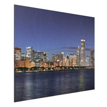 Product picture Aluminium Print brushed - Mural Chicago...