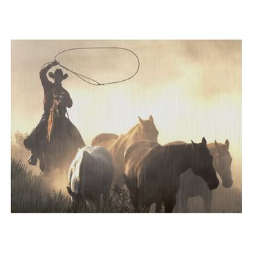 Product picture Aluminium Print brushed - Mural Cowboys...