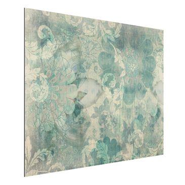 Produktfoto Aluminium Print gebürstet - Wandbild Eisblumen - Quer 3:4