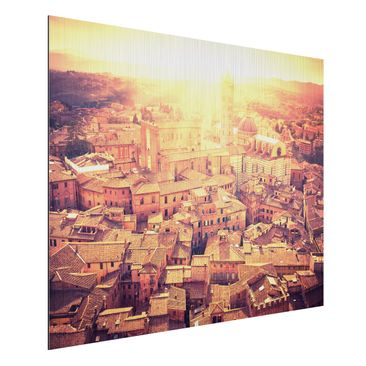 Product picture Aluminium Print brushed - Mural Fiery...
