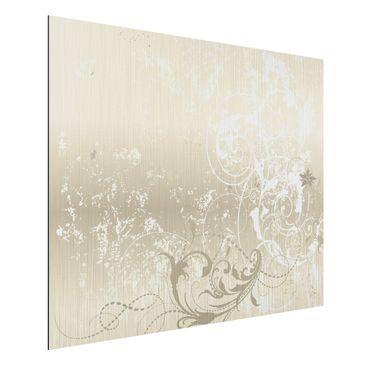 Product picture Aluminium Print brushed - Mural Nacre...