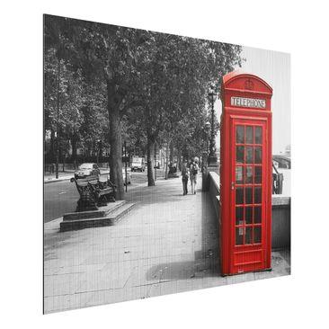 Produktfoto Aluminium Print gebürstet - Wandbild Telephone - Quer 3:4