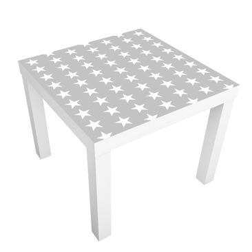 Product picture Design Table White stars on grey...