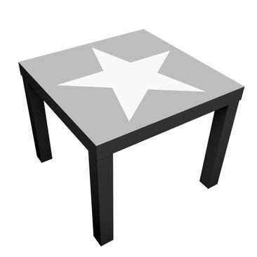 Product picture Design Table Large white stars on grey...