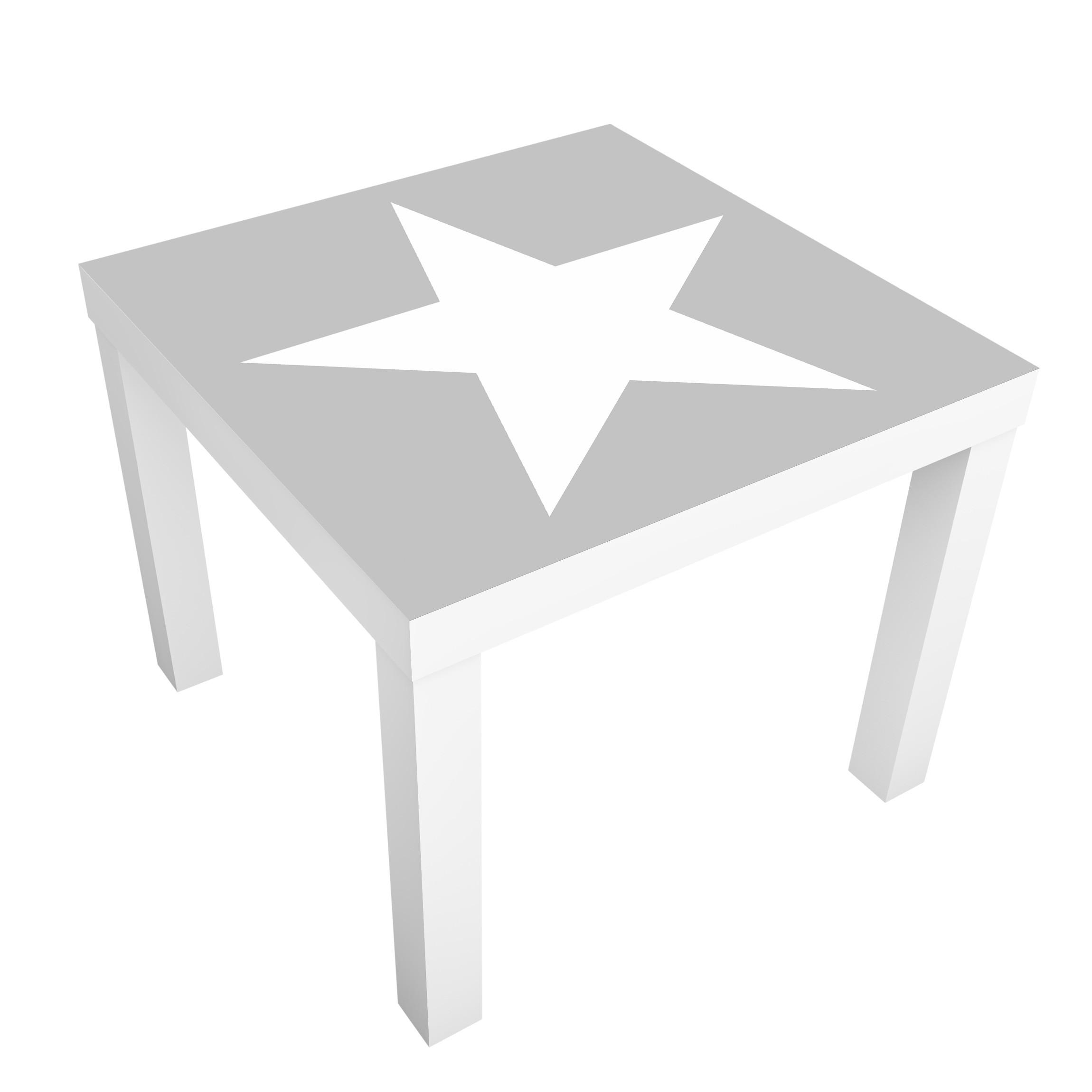 Carta adesiva per mobili ikea lack tavolino large white stars on grey - Ikea lack tavolino ...