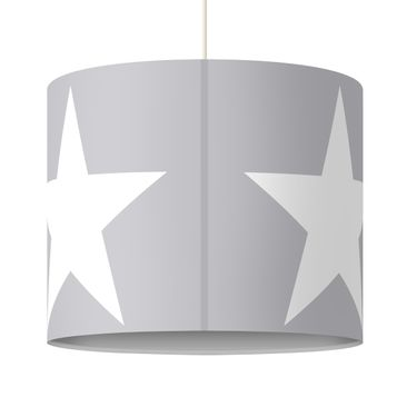 Product picture Design Lamp Large white stars on grey