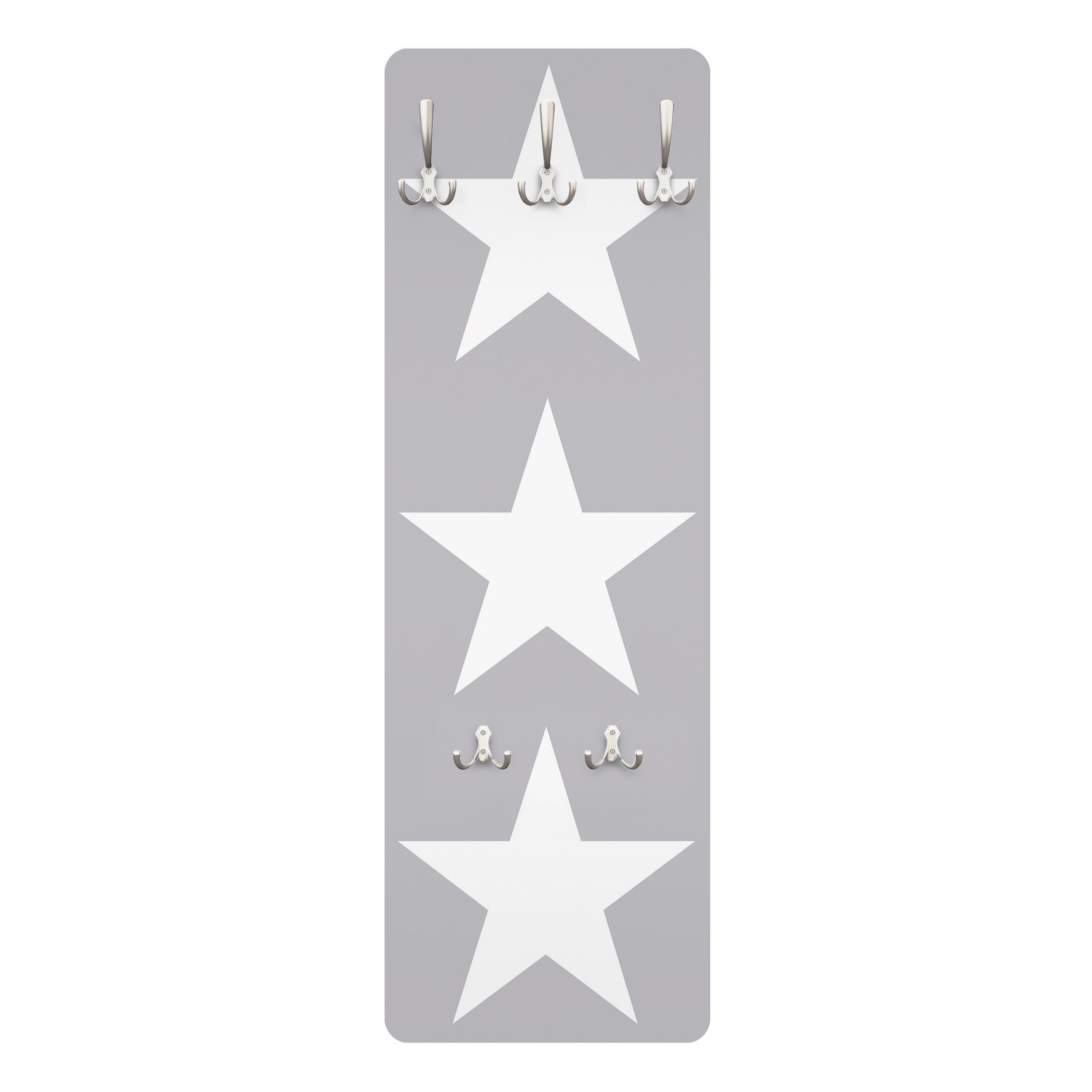 Gut bekannt Kindergarderobe - Große weiße Sterne auf grau - Kinderzimmer VQ83