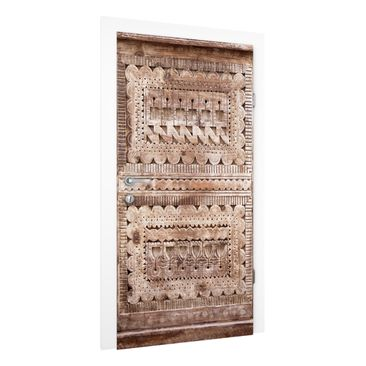 Immagine del prodotto Carta da parati per porte - Old ornate Moroccan wooden door in Essaouria - 215cm x 96cm