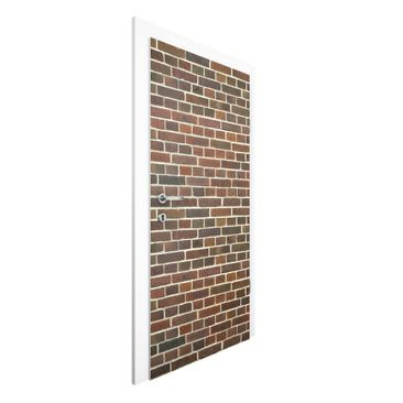 Immagine del prodotto Carta da parati per porte - Brick Wallpaper London maroon - 215cm x 96cm