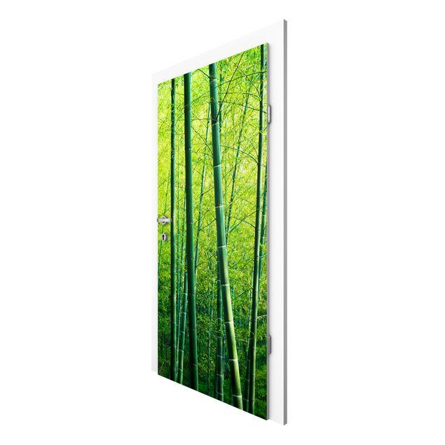 Produktfoto Vliestapete Tür - Bambuswald - Türtapete