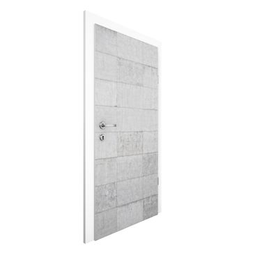 Immagine del prodotto Carta da parati per porte - Concrete brick optics grey - 215cm x 96cm