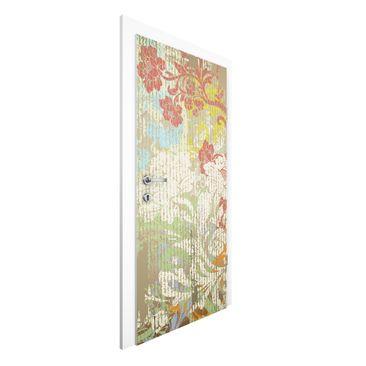 Immagine del prodotto Carta da parati per porte - Flowers bygone time - 215cm x 96cm
