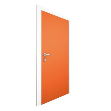 Immagine del prodotto Carta da parati per porte - Colour Orange - 215cm x 96cm