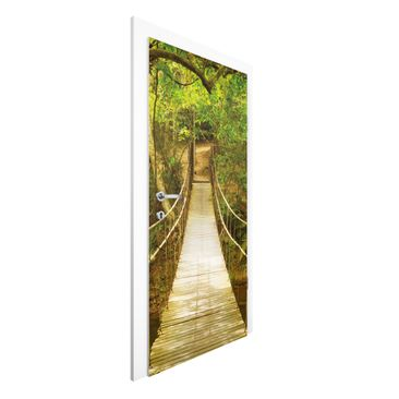 Product picture Non-woven Wallpaper Door - Jungle Bridge...