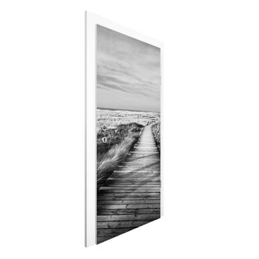 Immagine del prodotto Carta da parati per porte - Pathway Through The Dunes At Sylt II - 215cm x 96cm