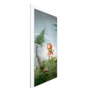 Immagine del prodotto Carta da parati per porte - Frida leaves the star free - 215cm x 96cm