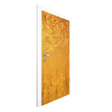 Produktfoto Vliestapete Tür - Goldene Flora - Türtapete