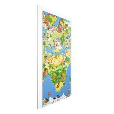 Immagine del prodotto Carta da parati per porte - Great And Funny Worldmap - 215cm x 96cm