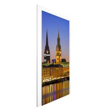 Produktfoto Vliestapete Tür - Hamburger Panorama - Türtapete