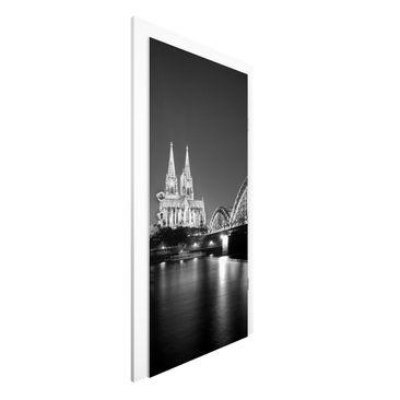 Produktfoto Vliestapete Tür - Köln bei Nacht II - Türtapete