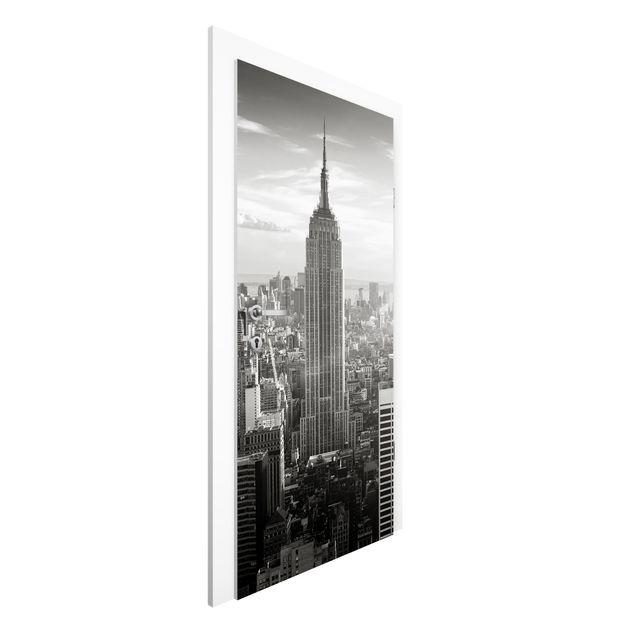 Produktfoto Vliestapete Tür - Manhattan Skyline -...