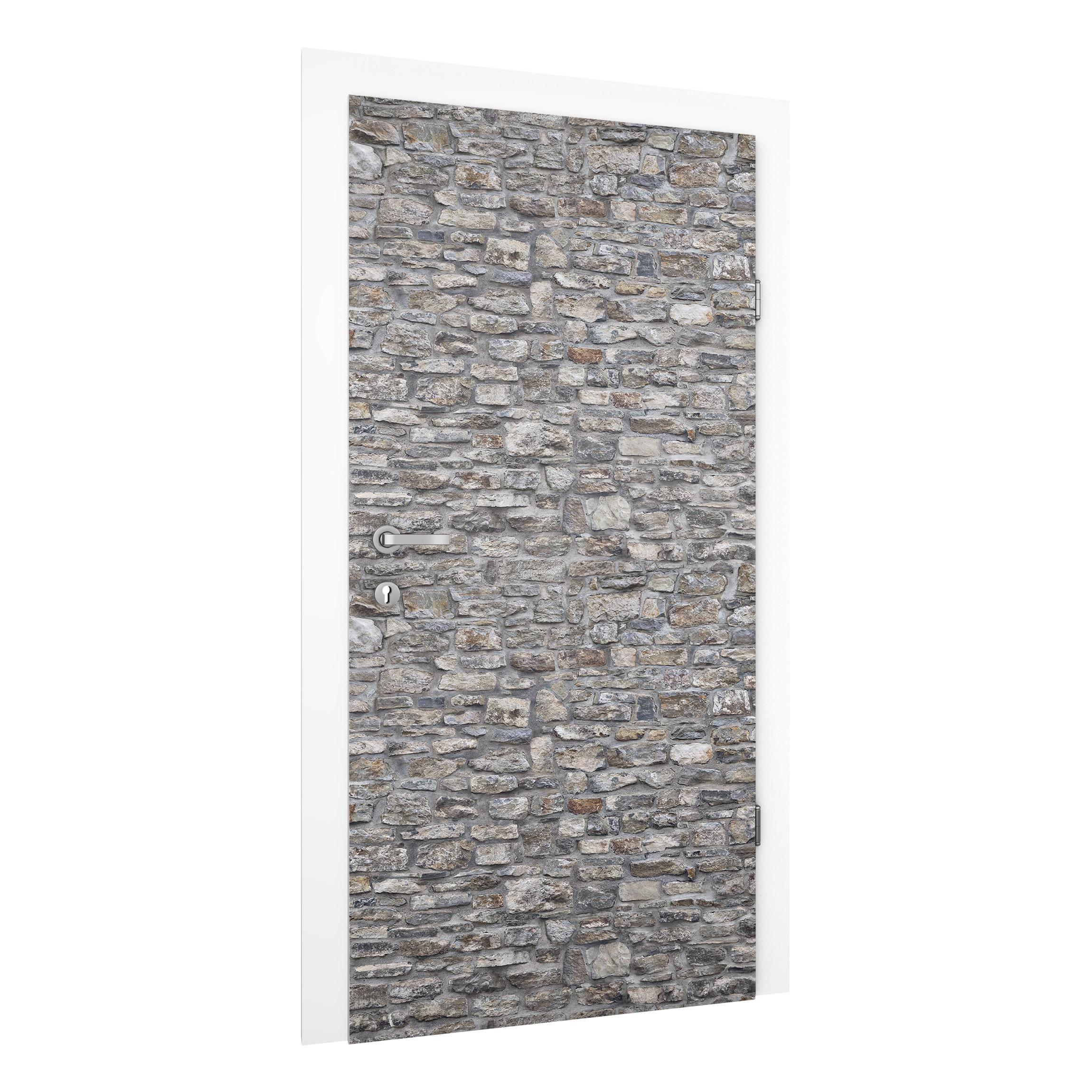 T rtapete steinoptik naturstein tapete alte steinmauer for Naturstein tapete